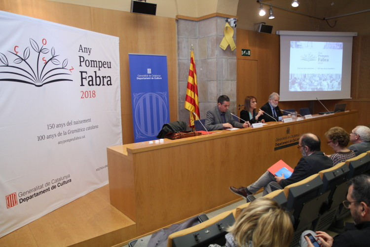 Imatge de la presentació de l'Any Fabra